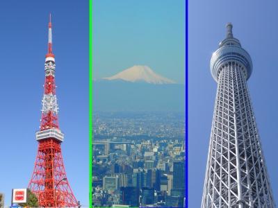 スカイツリー・東京タワー&マリオット(東京マリオット、プリンスさくらタワー、ウェスティン東京)紹介