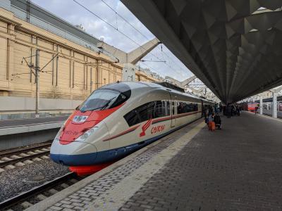 ロシアの高速鉄道・サプサン号 サンクトペテルブルク→モスクワ 旅行記