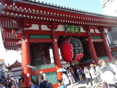 東京で一泊 浅草に行きたくて
