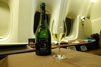 JAL SKY SUITE 777 のファーストクラスで行くセントマーティン(2) 成田→JFK ファーストクラス搭乗記