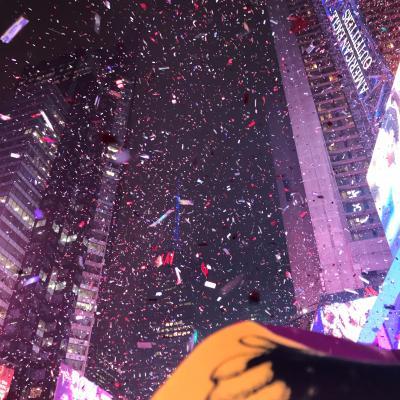 ニューヨーク 2019年末年始 カウントダウン 女2人旅 カウントダウン本番
