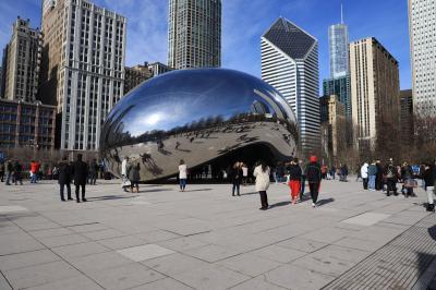 ANA特典ファーストで行くニューヨーク・シカゴ、市内観光2ミレニアムパークと世界遺産ライトのロビー邸