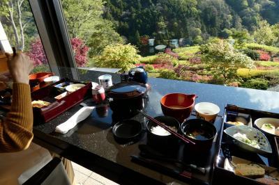 GWのエクシブ箱根離宮2泊 日本料理 華暦の朝食 朝のエクシブ箱根離宮の散策路