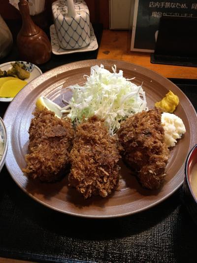 """コロナ明けにはまた食べれるかな、人形町 """"三友"""" の牡蠣フライ!"""