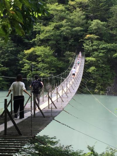 寸又峡「夢の吊橋」と道の駅【152】川根温泉