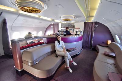 中学生とご褒美UK旅行 part 15 - カタール航空 ビジネスクラス ロンドン→ドーハ