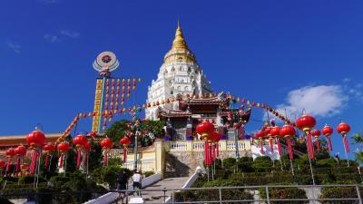マレーシア ペナン島② 2020 ペナンの極楽寺は極彩色だった