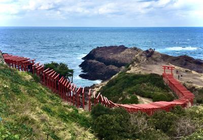 """福岡・山口遠征 (その20)  お天気が良ければこんな色合いかなぁ、""""元乃隅神社""""!"""