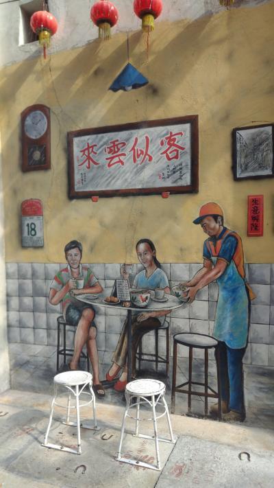マレーシア イポー② 2020 ストリートアートとアイスカチャンを探す