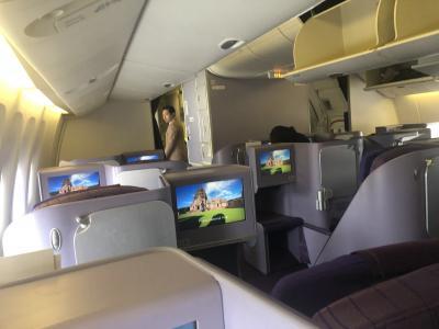 タイ国際航空BKK/DPS ビジネスクラス搭乗記。朝のラッシュに巻き込まれてラウンジ10分!
