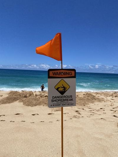 お気に入りのパイプラインサンセットビーチと波の音(動画)