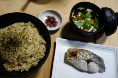 20200521 大阪 大黒さん、かやく御飯とさわら焼物でお昼ごはん