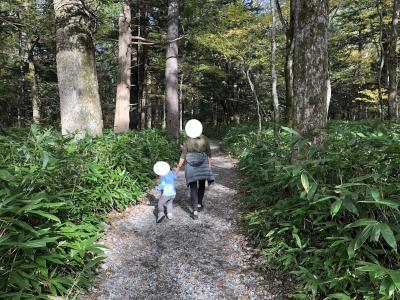 幼児連れ〈3歳〉上高地散策(紅葉の時期) ~新穂高ロープウェイも含む~