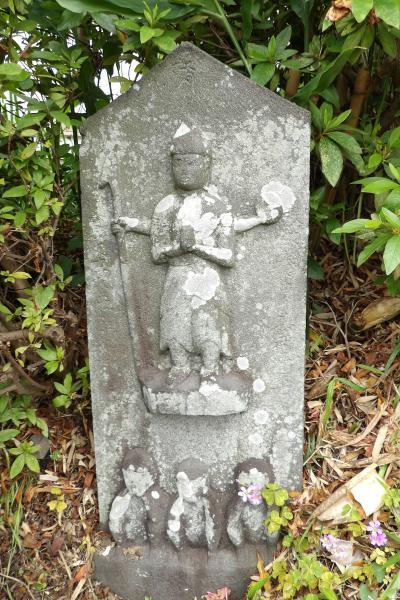 福聚院墓地横の階段下の庚申供養塔(横浜市港南区港南1)