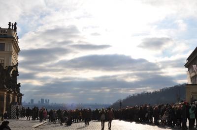神々しい日差しでした@プラハ城