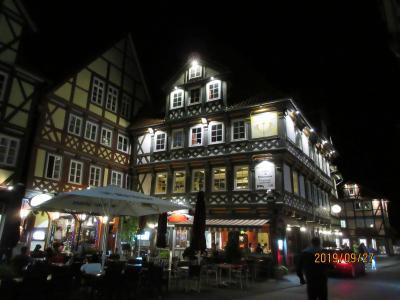2019年ドイツのメルヘン街道と木組み建築街道の旅:21ハン・ミュンデンは木組みのホテル「鉄ヒゲ博士」に泊まる。