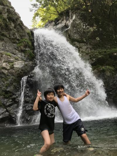 家族旅行 日帰り2020年5月(長男11歳、次男9歳)清納の滝