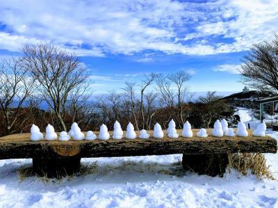 御在所岳で雪だるまたちに見送られた日