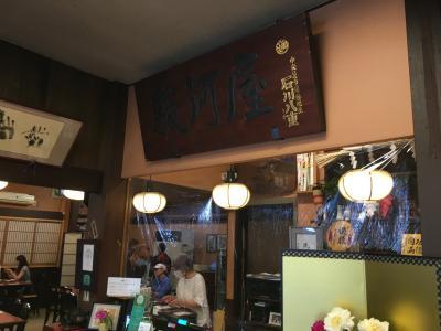 結婚記念日のお祝いに成田の駿河屋へうなぎを食べに行きました