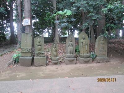 流山市の平和台・大宮神社・石仏