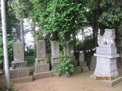流山市の平和台・大原神社・石仏