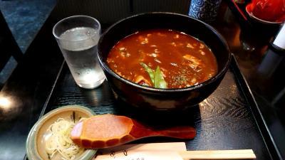 日本ばし やぶ久(創業:明治35年 108年の老舗)で、カレー南蛮蕎麦を食べてきました。
