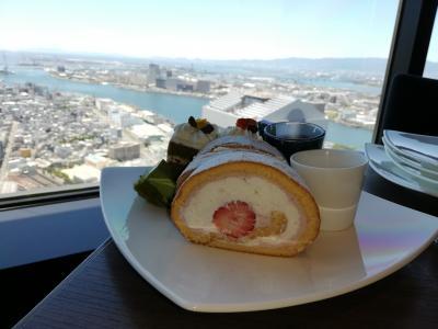 【第二弾】母娘、高近短の旅。アートホテル大阪ベイタワーの高層階でビュッフェを楽しみます。