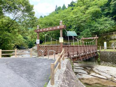 台明寺渓谷で自然の造形美にふれる