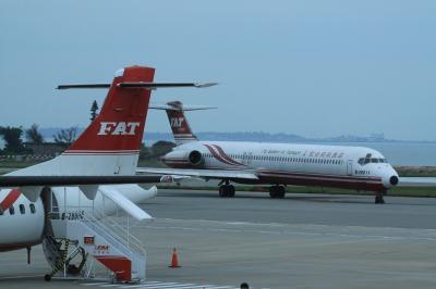 貴重な MD-82 フライトで金門島往復