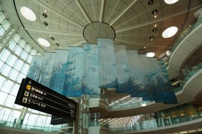 乗れないので飛行機を見に羽田空港へ 帰りは食べ歩き。