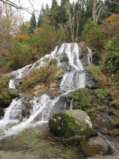 白蛇の滝と樽石林道の紅葉