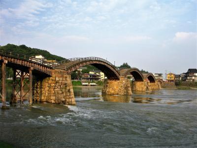 【2009年7月】日本の西あたりを青春18きっぷでひとり旅する(4)錦帯橋と岩国城と猫