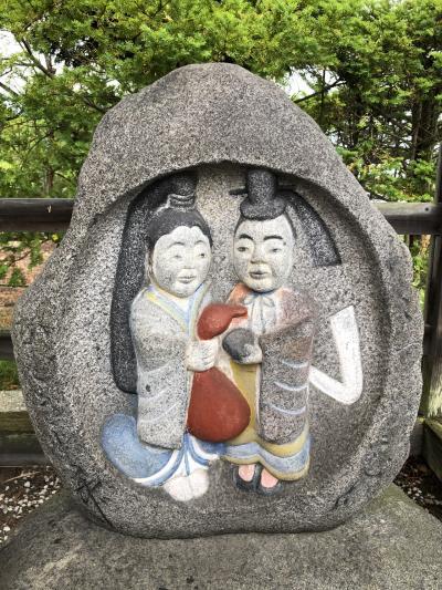 道祖神探しの雨の安曇野