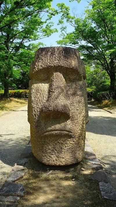 西桑津公園へモアイ像とストーンサークルを見に行きました その4。