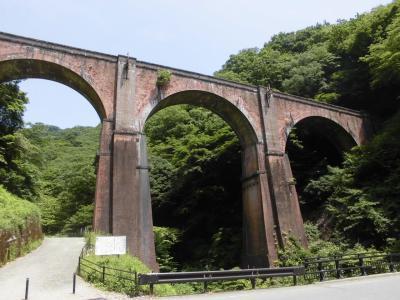 信越本線の終点、横川駅から遊歩道の「アプトの道」を歩き「 めがね橋」へハイキング