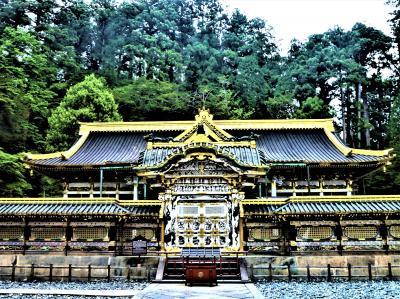 神杉(樹齢;~800年)につつまれて 金色の日光東照宮♪