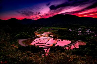 田染の夕日 2020
