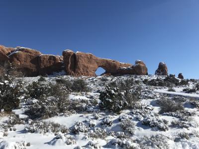 冬のグランドサークルをキャンピングカーで回る子連れ旅行4~アーチーズ国立公園