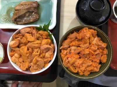 2020 初夏・ウニ うに 雲丹・うに丼を食べに行く うに膳屋 積丹ブルー すぎ乃 北海道グルメ
