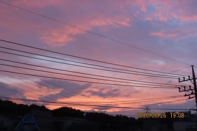 久しぶりに見られた素晴らしい夕焼け
