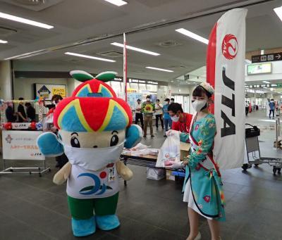 JTAの東京・羽田線が運航を再開初日 空港での歓迎