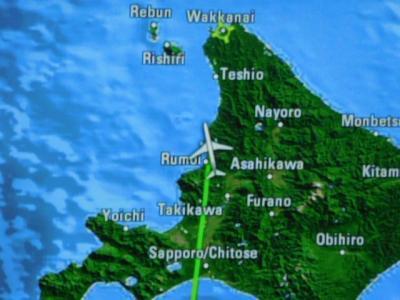 日本最北端の稚内空港行きANA571便の旅4!