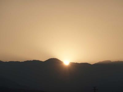 散歩・早朝バージョン =日の出を見ながら・原田公園にて= 2020.06.17
