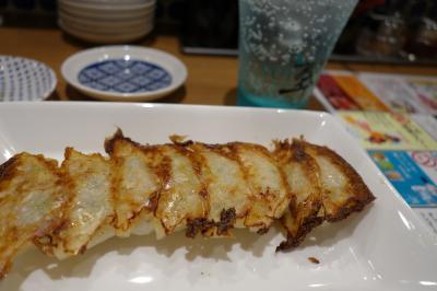 20200702-2 大阪 生姜旨汁薄皮餃子 おり乃鶴。餃子とかジンソーダとか。