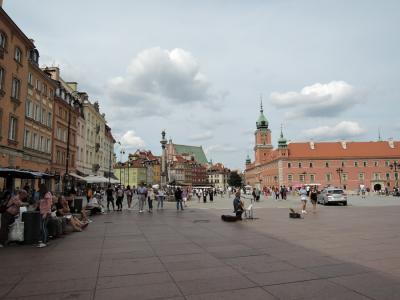 2019年夏 スロバキア・ポーランド旅行 首都ワルシャワ(ポーランド)2 王宮・旧市街市場・バルバカン