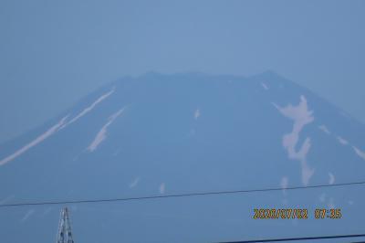 久しぶりに見られた富士山