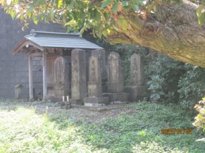 柏市の逆井・厳島神社・石仏