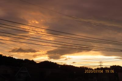 ふじみ野市西鶴ケ岡地区から見られた夕焼け