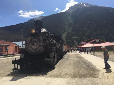 コロラド州 シルバートン - 蒸気機関車が到着