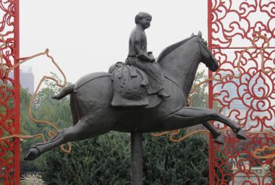 2019秋、中国旅行記25(24/34):11月20日(1):西安(11):西安博物院(1):四神石棺、龍紋石柱、仏像、観音像